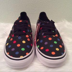 VANS multi colored polka dot sneakers. Really nice